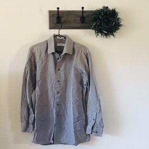 Calvin Klein Mens Grey Button Up 15 32/33
